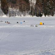 大町市 中綱湖 氷上 ワカサギ釣り