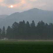 白馬村 盆前の早朝