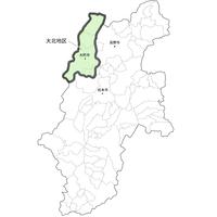 大北地区は長野県北西部に位置しています。