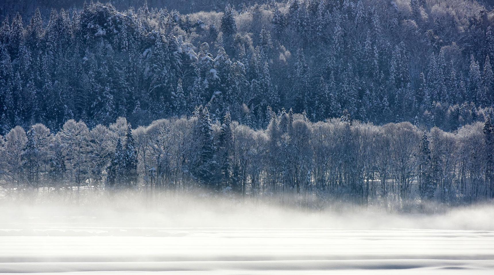 スライド86 霜の朝 白馬村