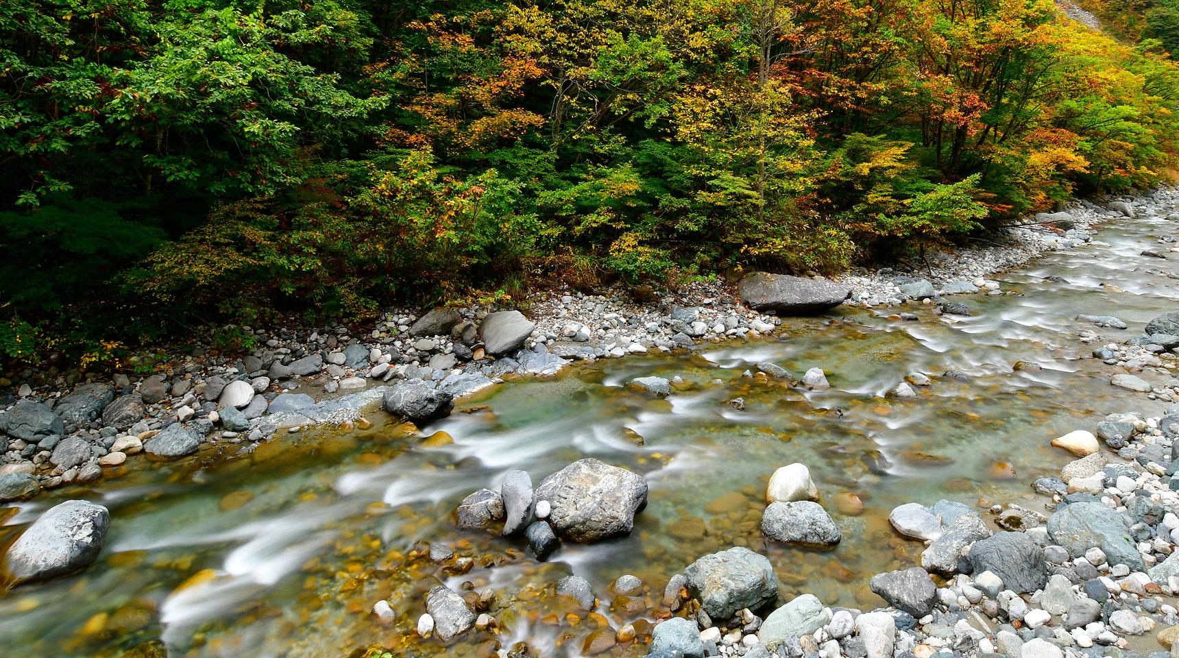 スライド124 白馬村 松川水系の初秋
