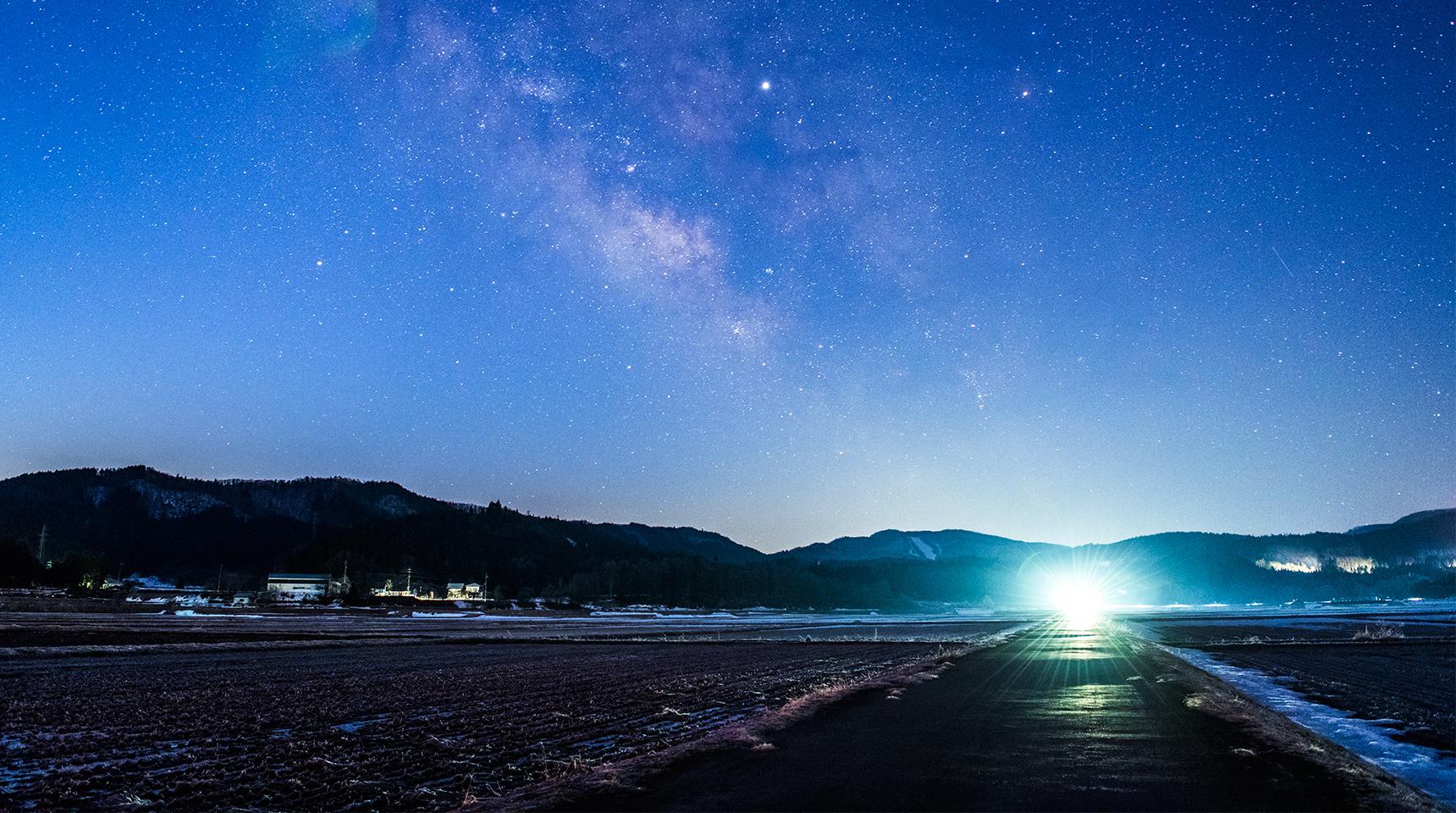 スライド 206 早春の夏銀河:白馬村